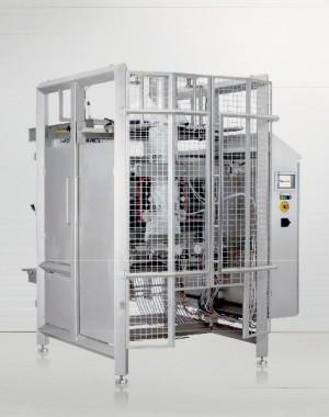 Higiénikus, függőleges zsák-töltő gép