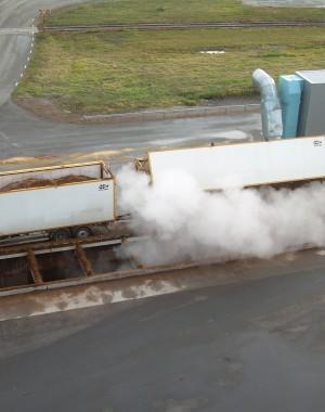 Szilárd biomassza fogadórendszerek
