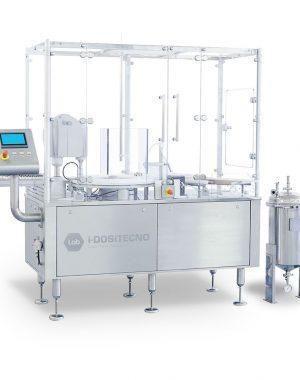 Asztali steril fiola töltő és záró gép