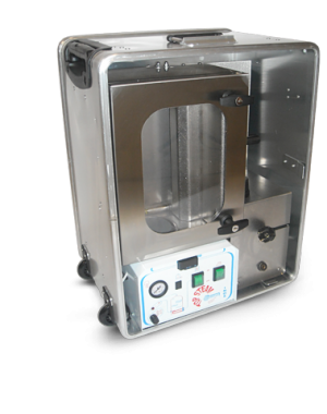 Laboratóriumi méretű ön-gőzölő zsugorfólia rendszer